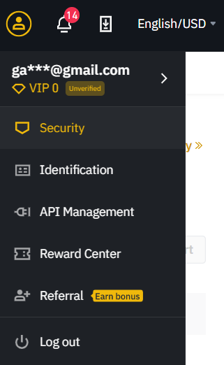 binance security to add 2FA two factors authentication