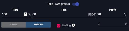 Apprendre le Trading : Trailing Take Profit
