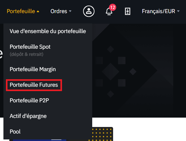 Portefeuille Binance Futures