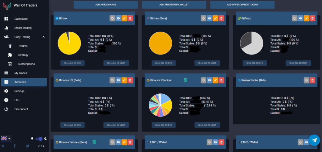 Social Trading : Portfolio Wall Of Traders