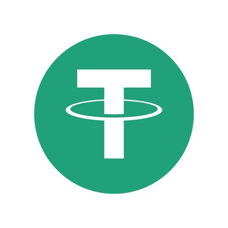 Tether cryptocurrency blockchain icon
