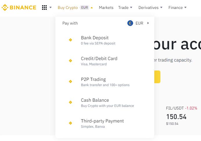 how to buy Bitcoin on Binance